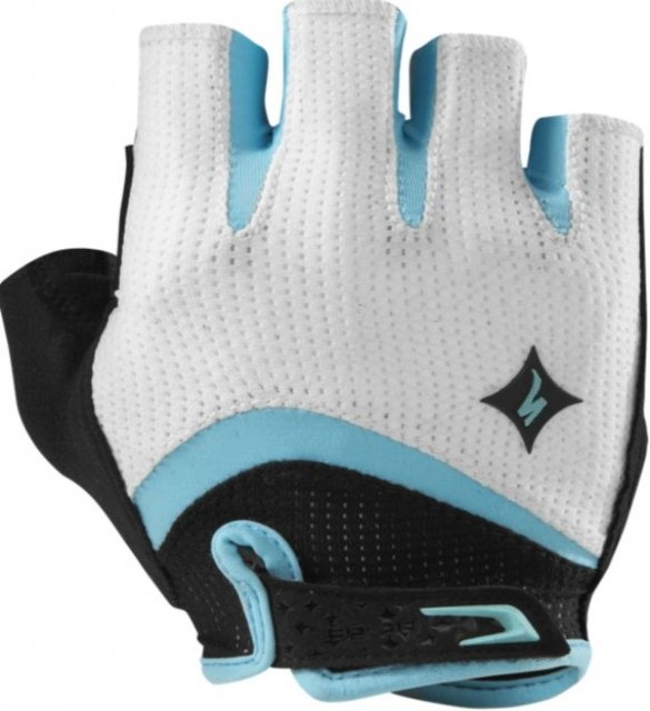 EAN-code: 0719676212128 Brand: SPECIALIZED Product: HANDSCHOEN ZOMER MAAT S BG GEL WOMEN WIT/TURQUOISE (Part-No: 670E-1782) at cycleXperience.nl