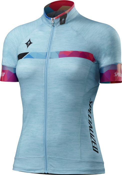 EAN-code: 0888818105823 Brand: SPECIALIZED Product: SHIRT K.M. MAAT M SL PRO DAMES TUR/GEO FADE (Part-No: 64116-2833) at cycleXperience.nl