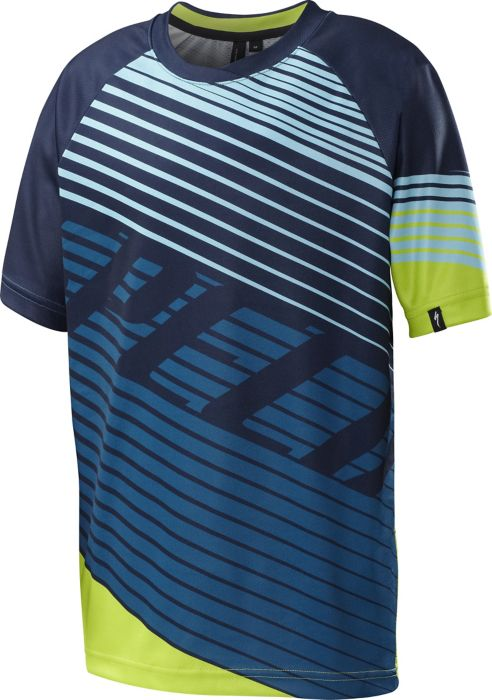 EAN-code: 0888818113941 Brand: SPECIALIZED Product: SHIRT K.M. MAAT L ENDURO GROM COMP BLAUW/GROEN (Part-No: 64116-8424) at cycleXperience.nl