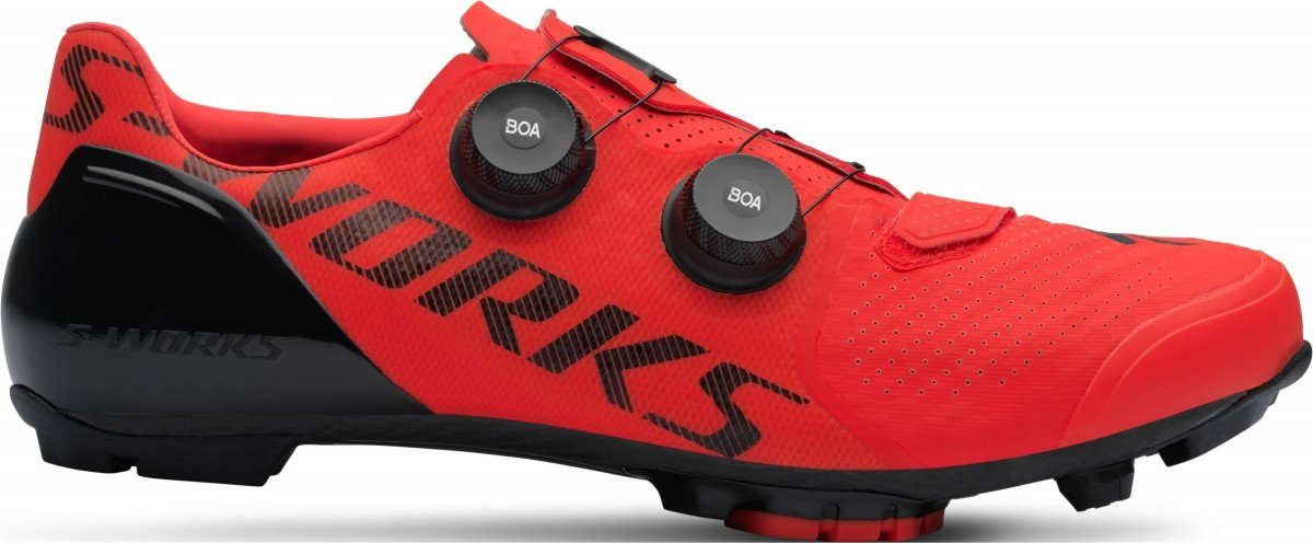 EAN-code: 0888818443697 Brand: SPECIALIZED Product: SCHOENEN MTB MAAT 43 S-WORKS RECON ROCKET RED (Part-No: 61119-0343) at cycleXperience.nl