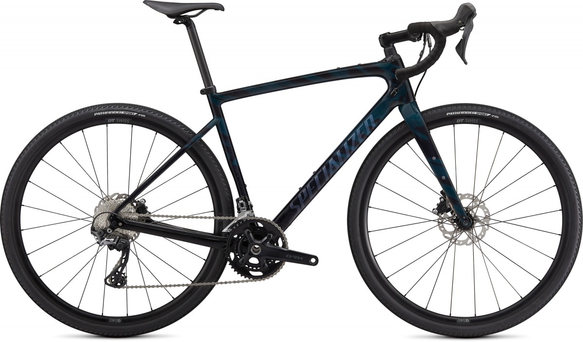 EAN-code: 0888818615759 Product: SPECIALIZED DIVERGE SPORT CARBON, GLOSS FOREST GREEN / ICE PAPAYA / CHROME / WILD FE (Part-No: 96220-6161) at cycleXperience.nl