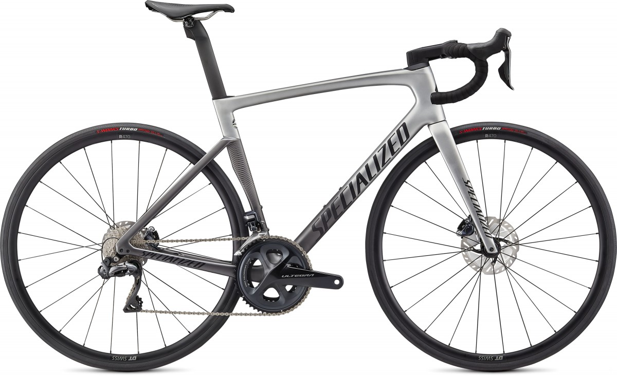 EAN-code: 0888818619719 Product: SPECIALIZED TARMAC SL7 EXPERT - ULTEGRA DI2, LIGHT SILVER / SMOKE FADE / BLACK (Part-No: 94920-3052) at cycleXperience.nl