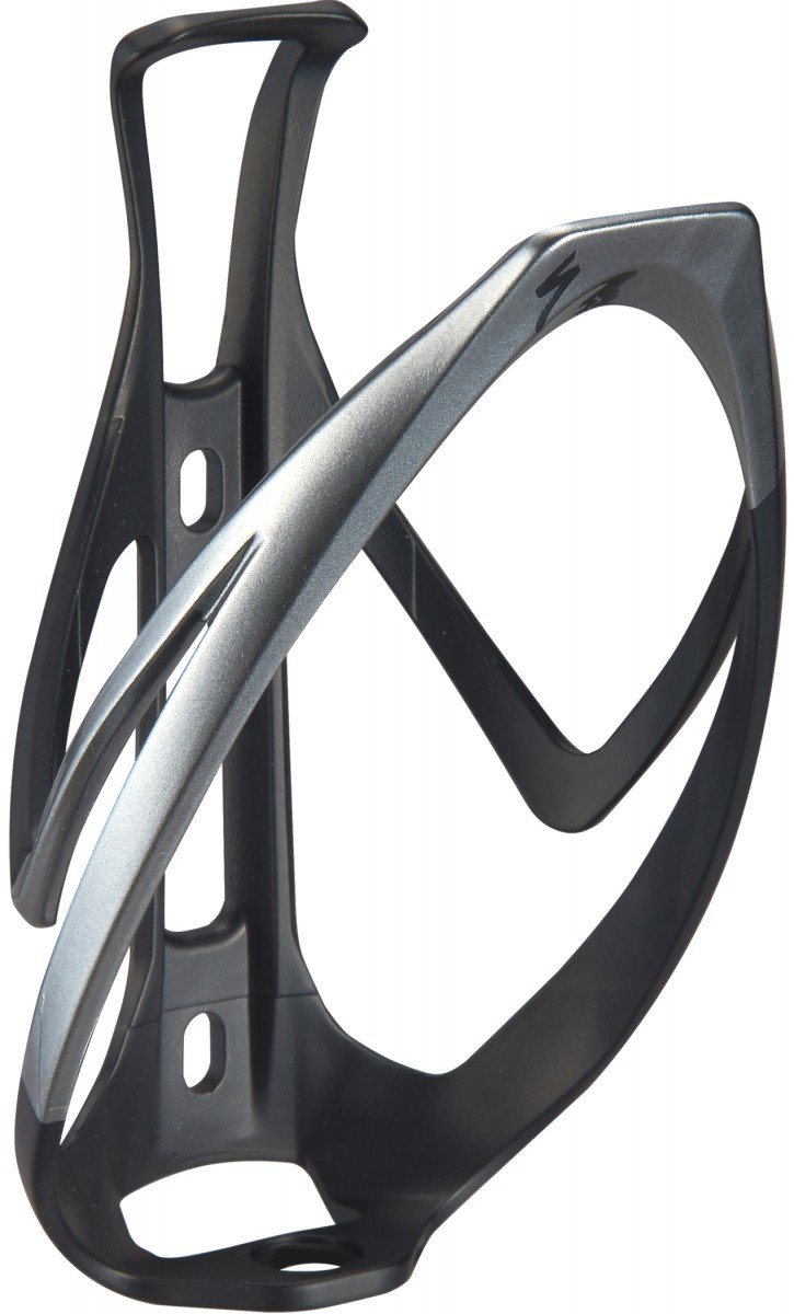 EAN-code: 0888818665754 Brand: SPECIALIZED Product: BIDONHOUDER RIB CAGE II MAT ZWART/ZILVER (Part-No: 43021-1002) at cycleXperience.nl