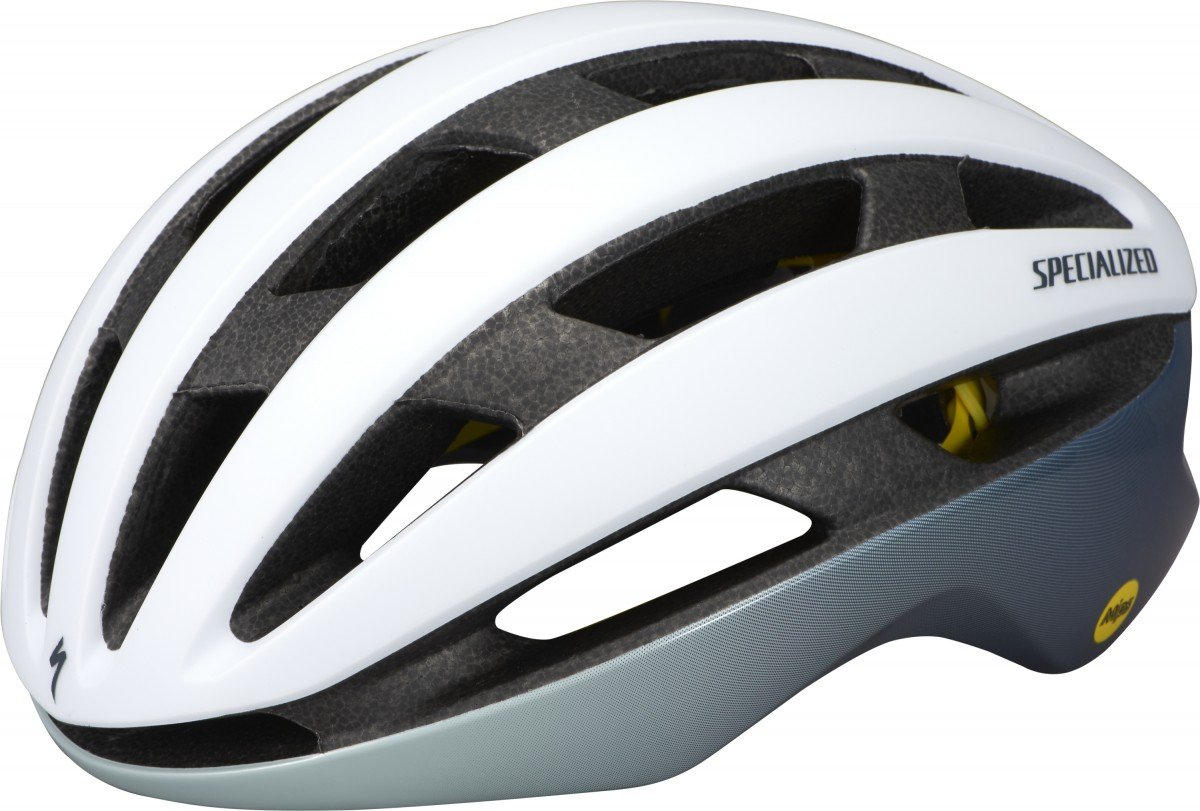 EAN-code: 0888818670222 Brand: SPECIALIZED Product: HELM MAAT S AIRNET MIPS WHITE/ICE BLUE/CAST BLUE METALLIC (Part-No: 60121-1632) at cycleXperience.nl
