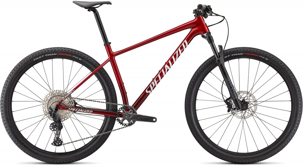EAN-code: 0888818675234 Product: SPECIALIZED CHISEL COMP, GLOSS RED TINT / BRUSHED / WHITE (Part-No: 91721-5103) at cycleXperience.nl