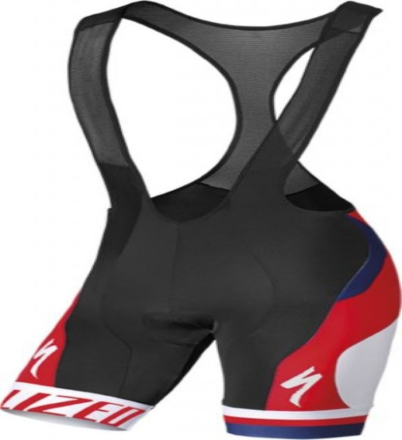 EAN-code: 1000000355444 Brand: SPECIALIZED Product: PRO RACING BIB SHORT BLK/RED/BLU XL (Part-No: 644-57035) at cycleXperience.nl