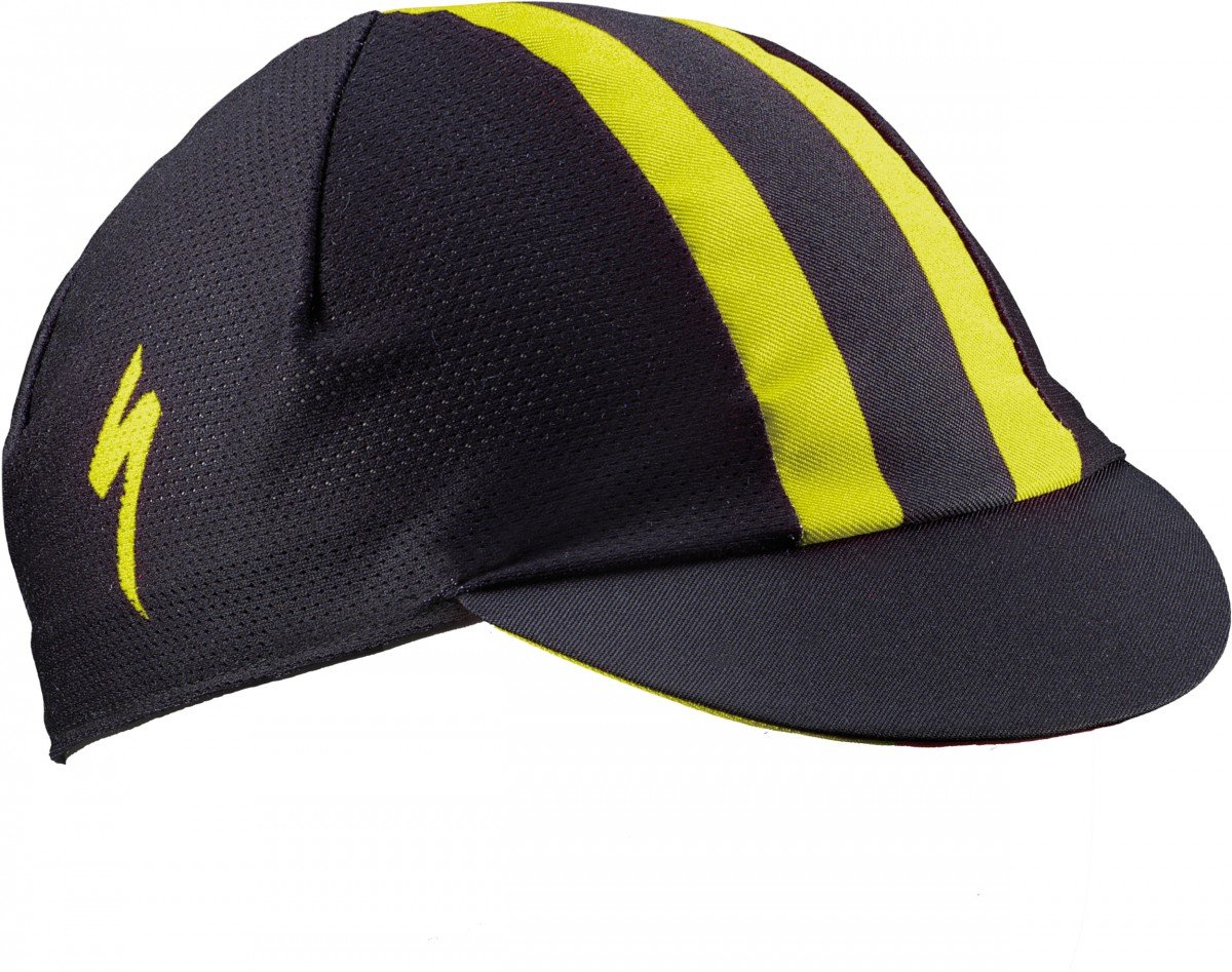 EAN-code: 1000001056685 Brand: SPECIALIZED Product: CYCLING CAP OSFA ZWART/GEEL (Part-No: 644-8010) at cycleXperience.nl