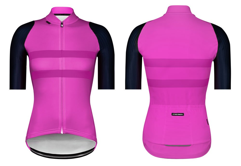 EAN-code: 1801001478893 Brand: ETXEONDO Product: SHIRT K.M. MAAT M GARAIA DAMES ROZE/BLAUW (Part-No: 721498) at cycleXperience.nl