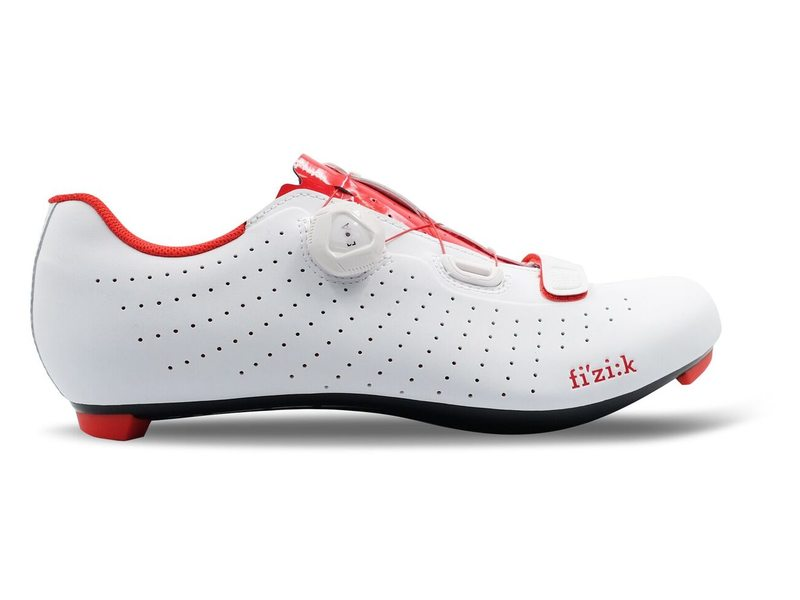 EAN-code: 2181002789921 Brand: FIZIK Product: SCHOENEN RACE TEMPO R5 OVERCURVE WIT/ROOD at cycleXperience.nl