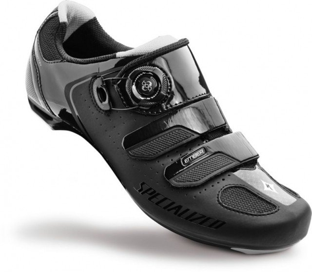 EAN-code: 2181002946348 Brand: SPECIALIZED Product: SCHOENEN RACE EMBER DAMES ZWART/ZILVER at cycleXperience.nl