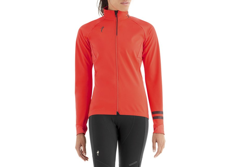 EAN-code: 2181003047242 Brand: SPECIALIZED Product: WINTERJACKET ELEMENT 1.0 DAMES ROCKET ROOD at cycleXperience.nl