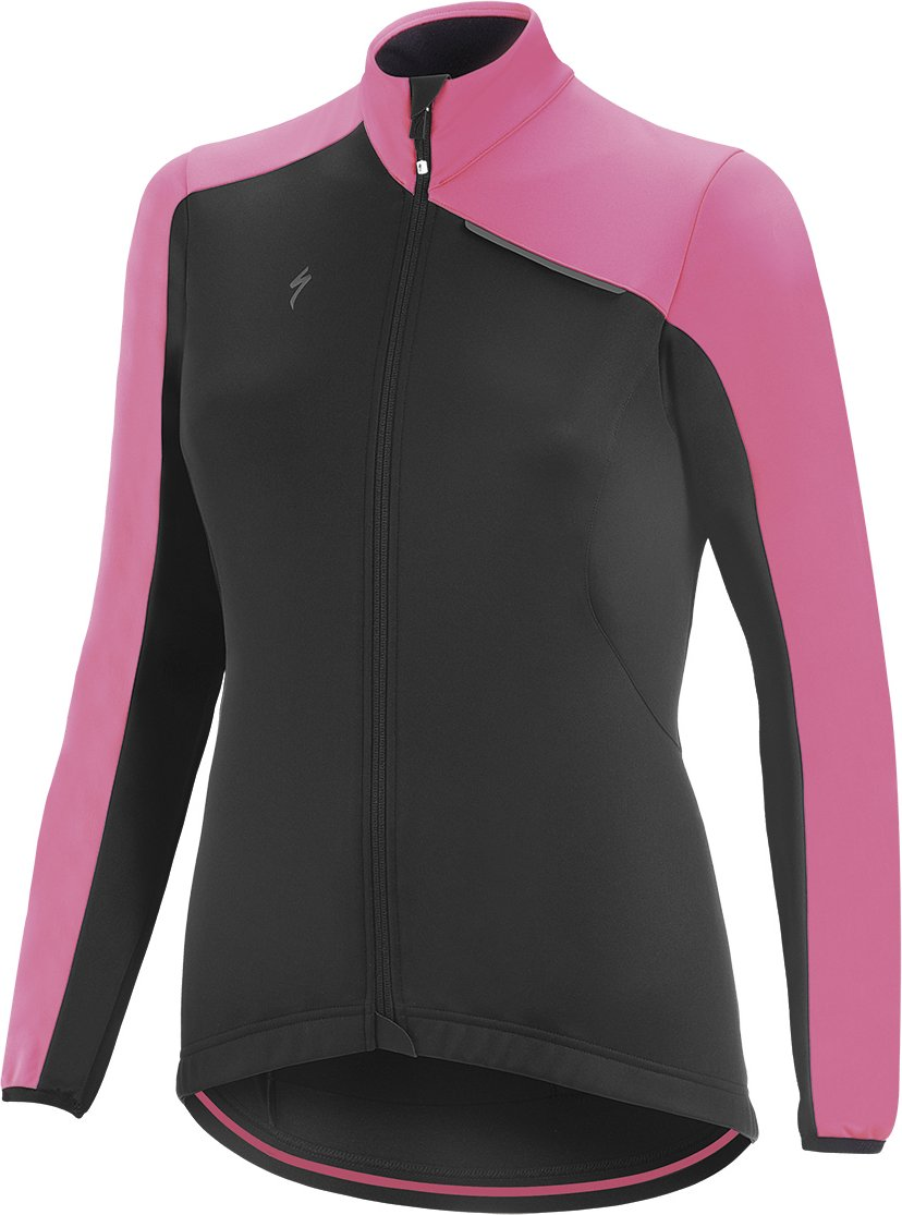 EAN-code: 2181003047563 Brand: SPECIALIZED Product: WINTERJACKET ELEMENT ROUBAIX SPORT DAMES ZWART/NEON ROZE at cycleXperience.nl