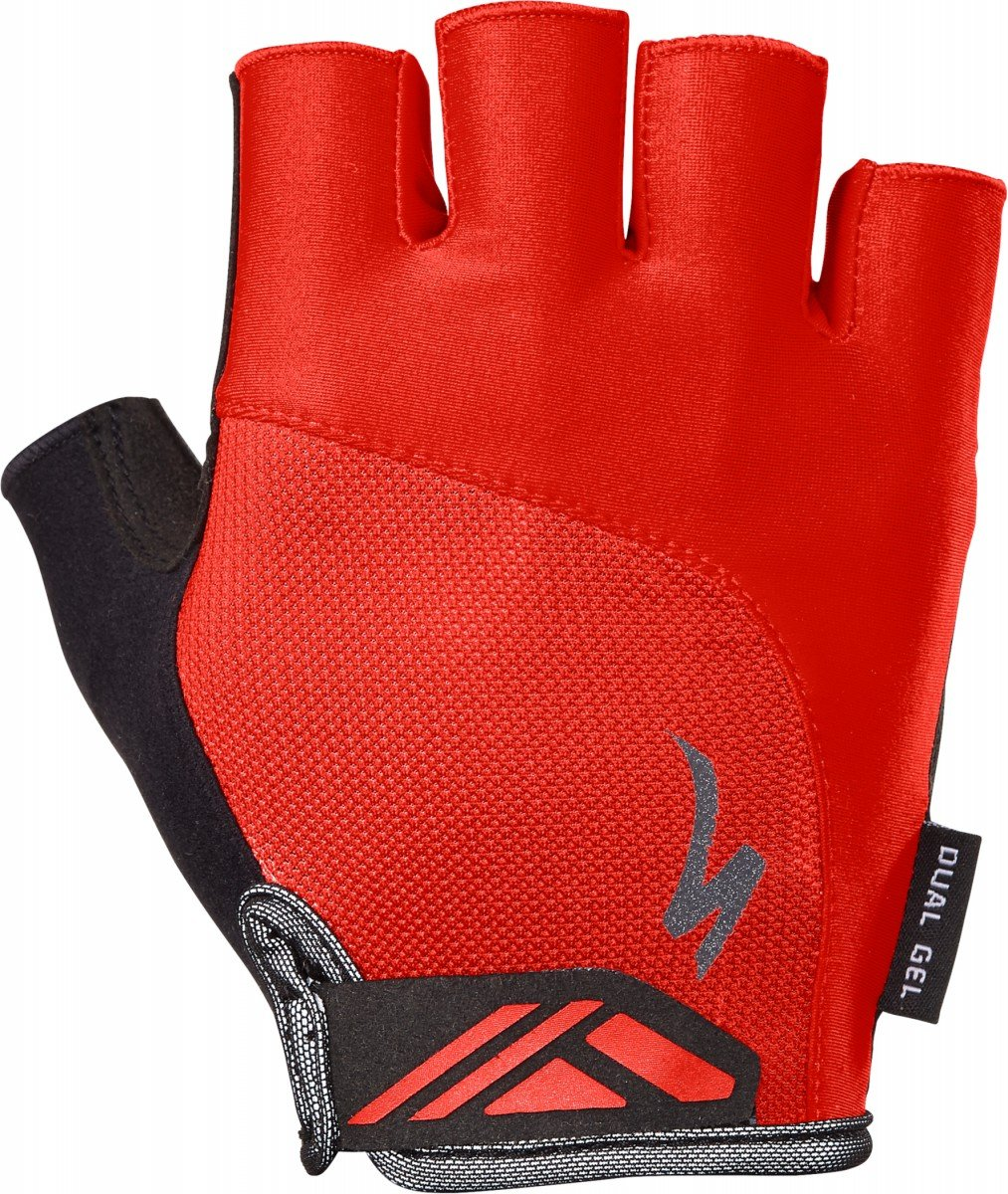 EAN-code: 2181003054066 Brand: SPECIALIZED Product: HANDSCHOEN BG DUAL GEL ROOD at cycleXperience.nl