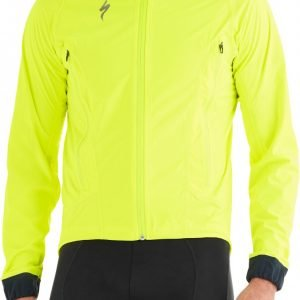 EAN-code: 2181003056923 Brand: SPECIALIZED Product: DEFLECT H2O REGENJAS FLUOR GEEL at cycleXperience.nl