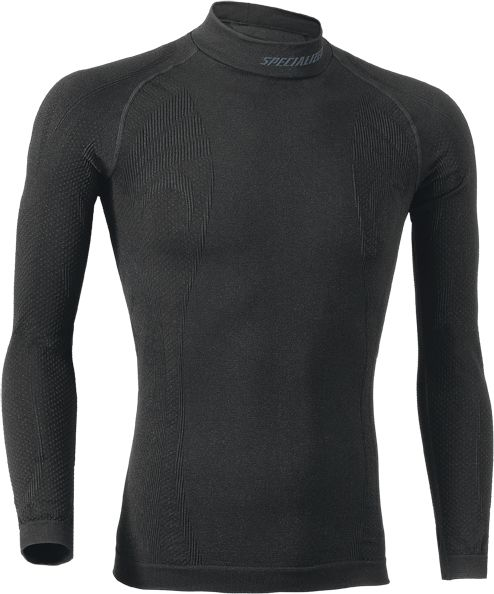 EAN-code: 2181003057968 Brand: SPECIALIZED Product: ONDERKLEDING L.M. ROLL NECK NAADLOOS ZWART at cycleXperience.nl