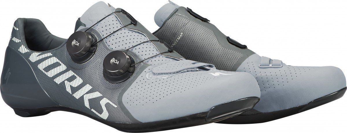 EAN-code: 2181003938489 Brand: SPECIALIZED Product: SCHOENEN RACE S-WORKS 7 COOL GREY/SLATE at cycleXperience.nl