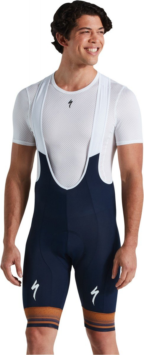 EAN-code: 2181004015363 Brand: SPECIALIZED Product: KORTE BROEK ROUBAIX COMP NAVY/TOBACCO at cycleXperience.nl
