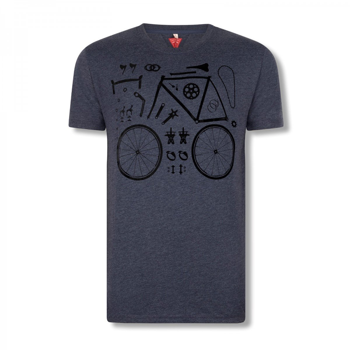 EAN-code: 2181004209700 Brand: LE PATRON Product: SHIRT K.M. PIECES DE BICYCLETTE DONKERBLAUW at cycleXperience.nl