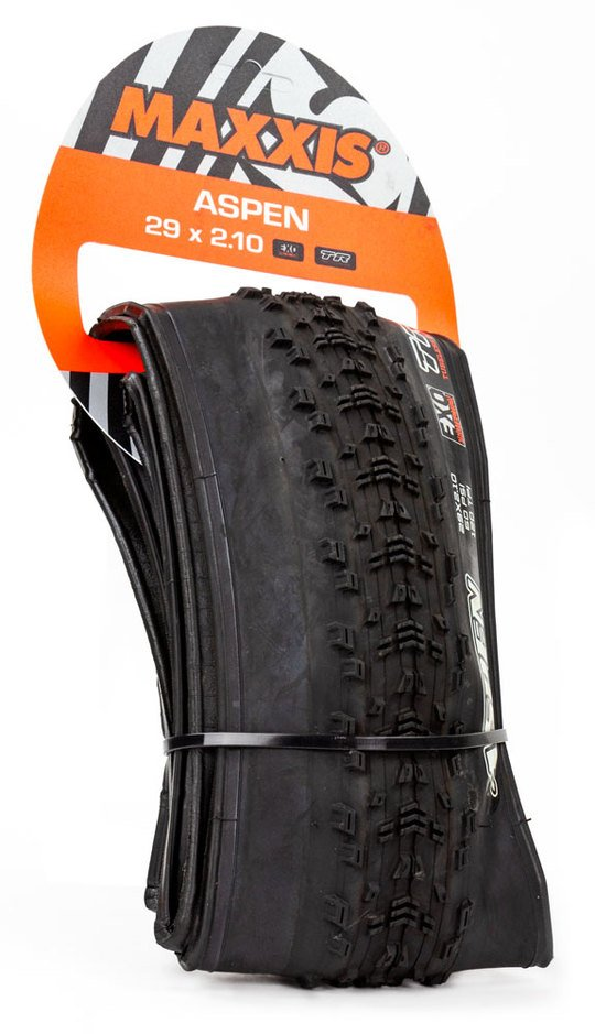 EAN-code: 4717784028972 Brand: MAXXIS Product: BUITENBAND MTB 29X2.1 (54-622) ASPEN EXO TLR EXO 120TPI VOUW (Part-No: 720448) at cycleXperience.nl