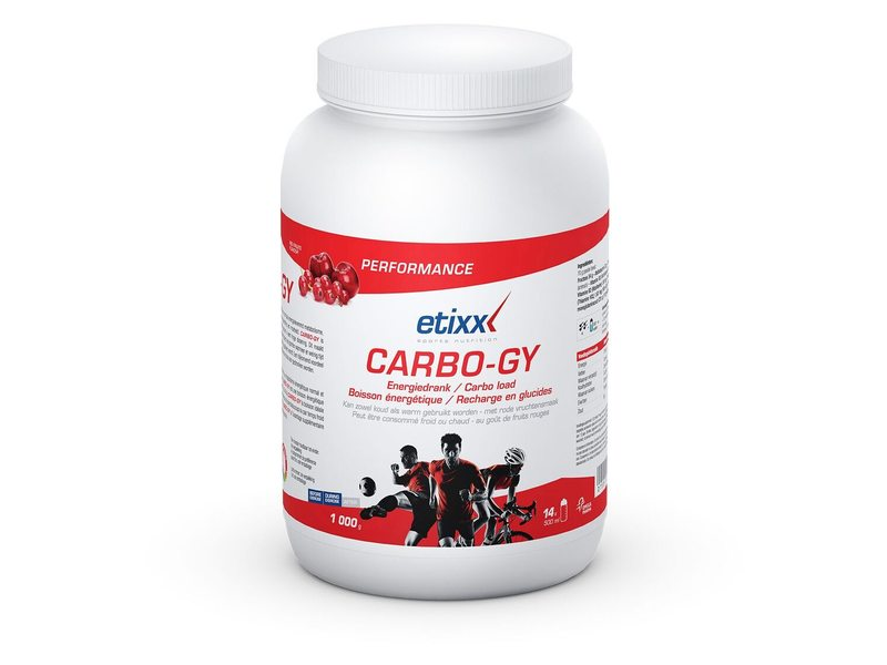 EAN-code: 5425000677321 Brand: ETIXX Product: ENERGY DRINK 1000GR CARBO-GY RED FRUITS (Part-No: 515335) at cycleXperience.nl