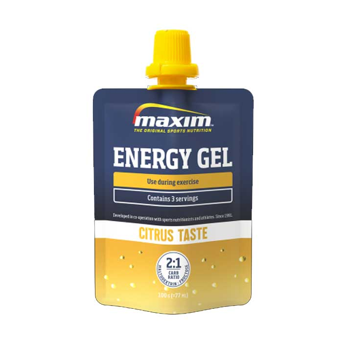 EAN-code: 5704190111823 Brand: MAXIM Product: ENERGY GEL 100GR CITRUS (Part-No: 702009) at cycleXperience.nl