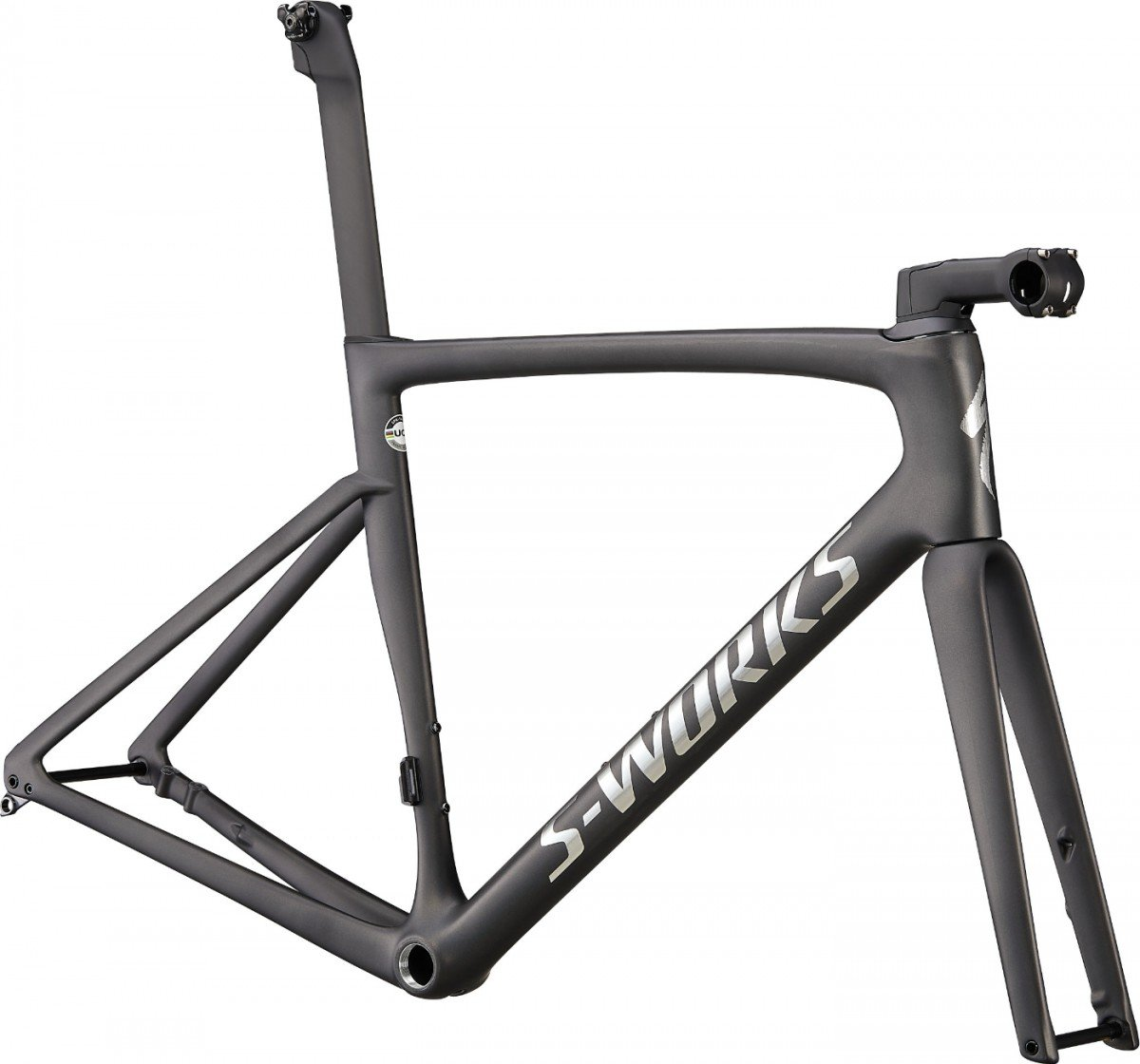 EAN-code: 70622-0056 Product: SPECIALIZED S-WORKS TARMAC SL7 FRAMESET, SATIN CARBON / SPECTRAFLAIR TINT / GLOSS BRUSHED C (Part-No: 70622-0056) at cycleXperience.nl