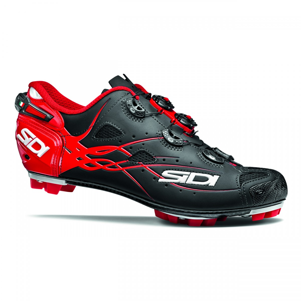 EAN-code: 8017732498311 Brand: SIDI Product: SCHOENEN MTB MAAT 43 TIGER MATT BLACK/RED (Part-No: MCTIGERMATT-NEOPRO-43) at cycleXperience.nl